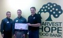 Harvest Hope Food Bank Receives $2,700 Donation