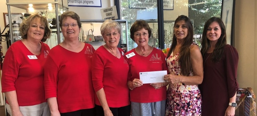 Assistance League of Montgomery County recently received a $30,000 donation from the Woodforest Charitable Foundation.