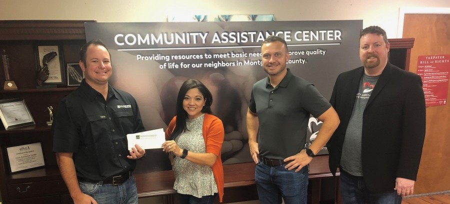 Community Assistance Center recently received a $30,000 donation from the Woodforest Charitable Foundation.