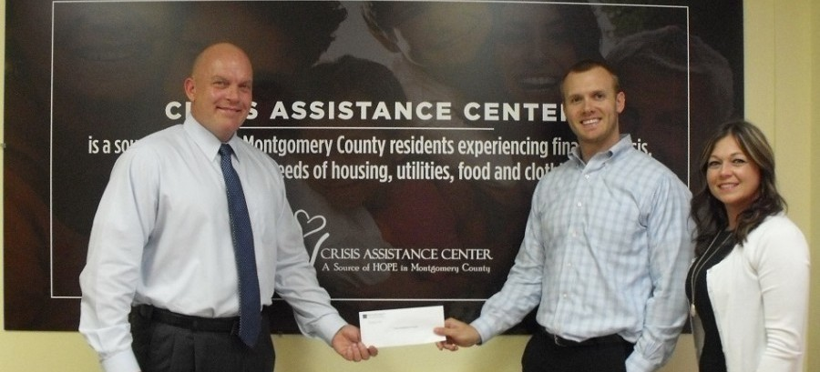 Crisis Assistance Center recently received a $48,000 donation from Woodforest Charitable Foundation.