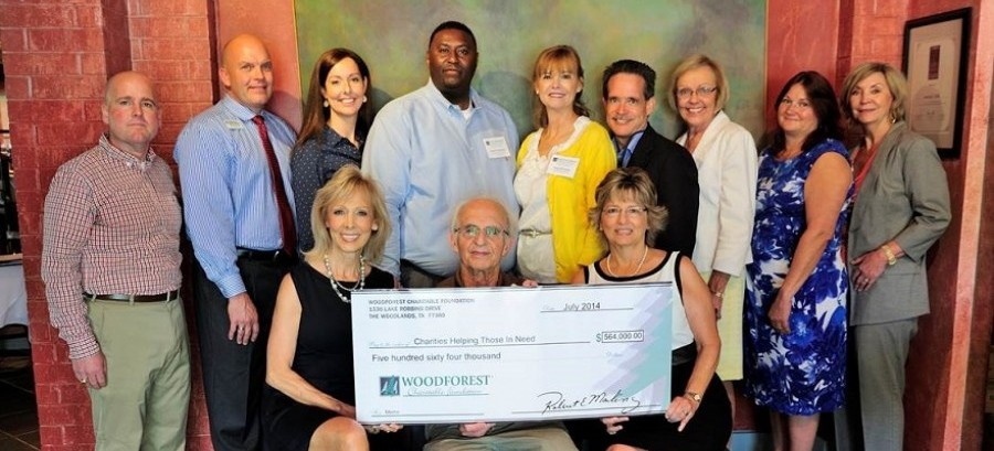 Woodforest Charitable Foundation donates $564,000 to local charities.