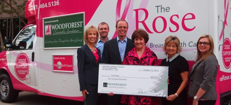 The Rose receives $200,000 donation from Woodforest Charitable Foundation.