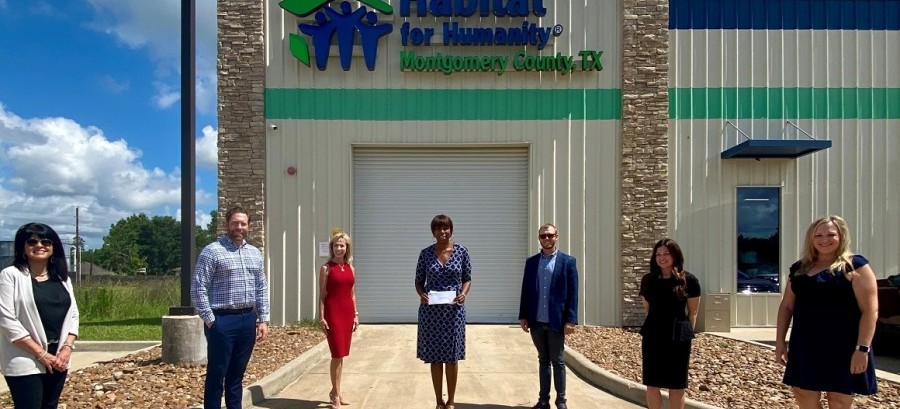 Habitat for Humanity of Montgomery County recently received a $15,000 donation from the Woodforest Charitable Foundation.