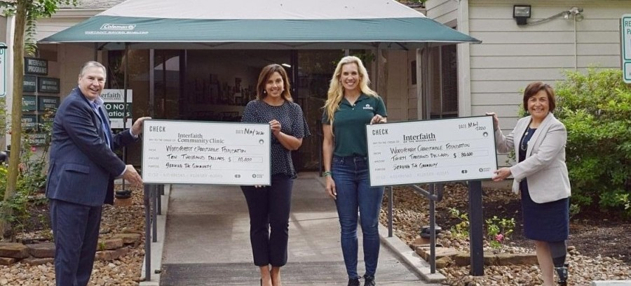 Interfaith The Woodlands recently received a $40,000 donation from the Woodforest Charitable Foundation.