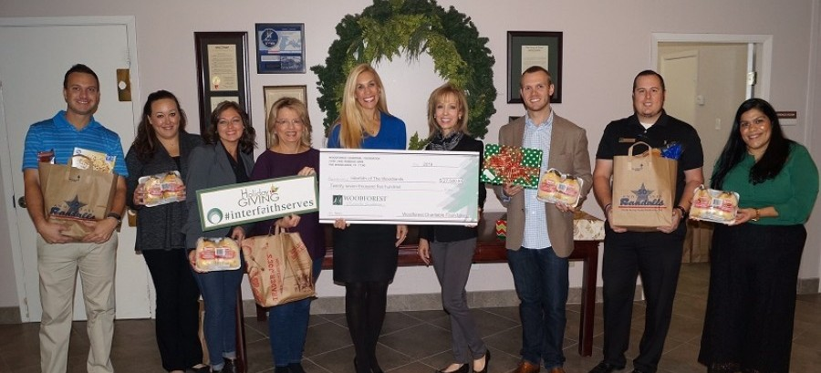Interfaith of The Woodlands recently received $27,500 from Woodforest Charitable Foundation.