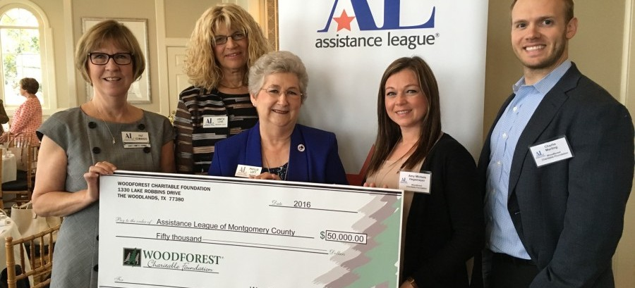 Montgomery County Assistance League received $50,000 from Woodforest Charitable Foundation.