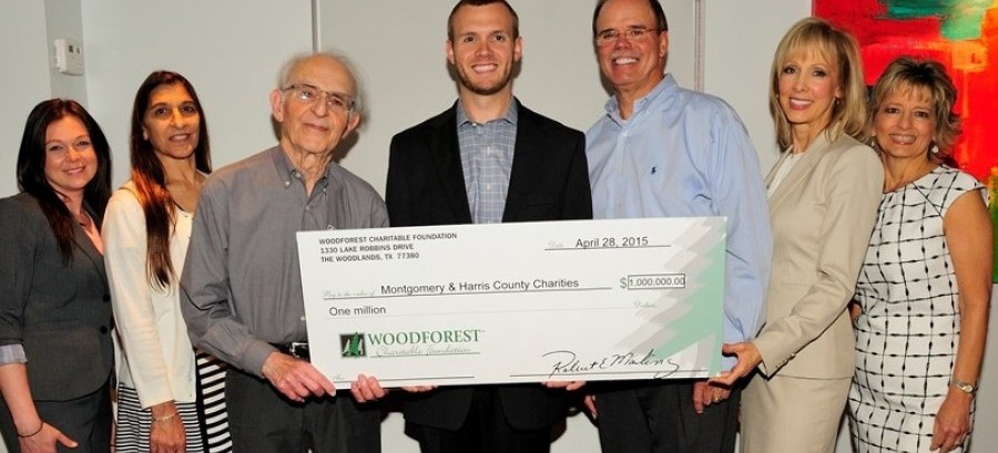 Woodforest Charitable Foundation donates $1 Million to local charities in Montgomery and Harris County.