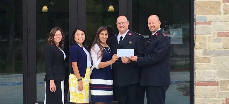 The Salvation Army - Wayne Bergstrom Center of Hope recently received a $50,000 donation from Woodforest Charitable Foundation.