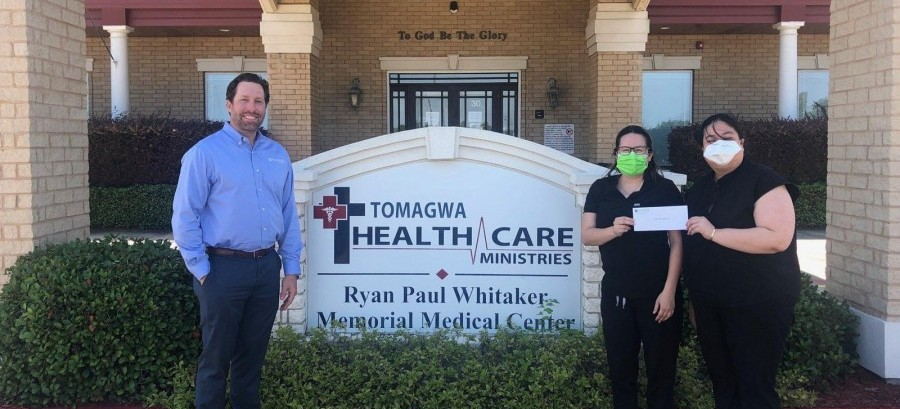 TOMAGWA recently received a $20,000 donation from the Woodforest Charitable Foundation.