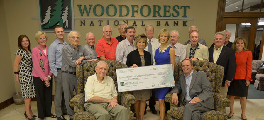 Woodforest National Bank continues its support with an additional $3,000,000 donation.